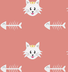 Cat pattern - seamless texture made with th vector