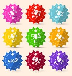 Discount Paper Colorful Labels Sale Set vector image