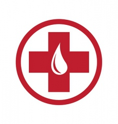 donate blood sign vector image