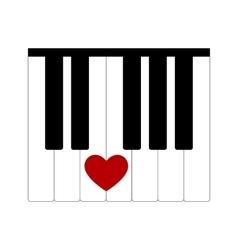 heart love music vector image