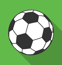 Icon of Ball for european football Soccer symbol vector image