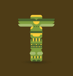 native traditional totem pole vector image