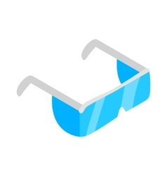 Safety glasses icon isometric 3d style vector image