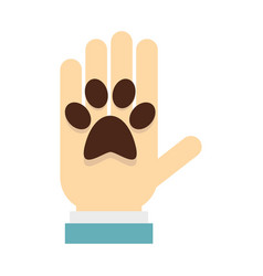 donations for pets icon flat style vector image vector image