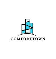 Isolated block of flats logo Real estate vector image