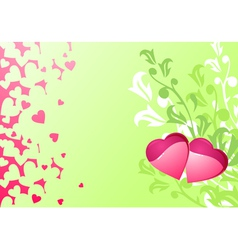 love hearts and background valentines or wedding vector image vector image