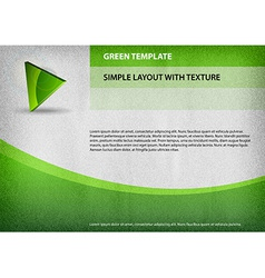 template green curve vector image