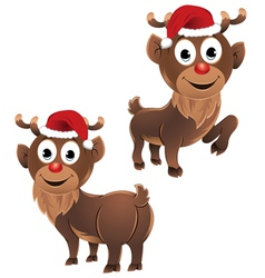 Baby Rudolph The Reindeer Two Poses vector image