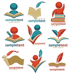 educational logo collection vector image vector image