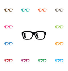 isolated nerd icon specs element can be vector image vector image