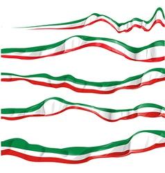 italian flag set isolated vector image vector image