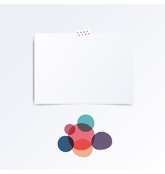 Mock up template with abstract circles vector