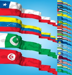 set 4 of world flags vector image vector image