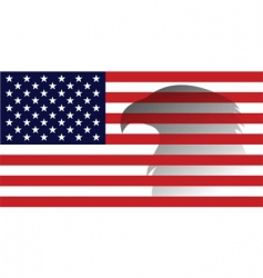 American flag with eagle image vector image vector image