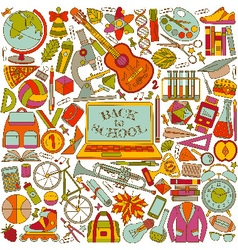 Back to school background made of line icons vector image vector image