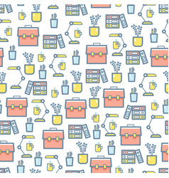 office stationery and equipment seamless pattern vector image