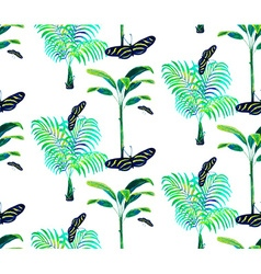 Palm tree pattern2 vector image