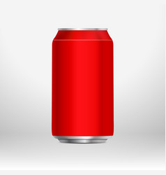 red can template vector image vector image