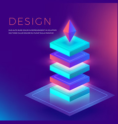 3d abstract colorful shapes for background vector image