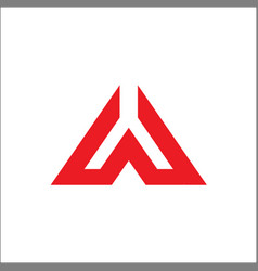 a initial triangle logo vector image