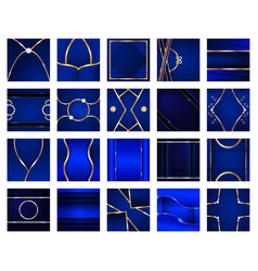 Abstract blue background in premium concept with vector
