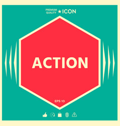 action button symbol vector image
