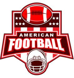 american football logo design vector image