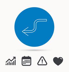arrow back icon previous sign vector image