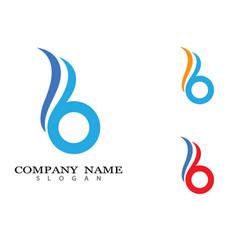 B letter icon design vector