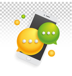 Banner icon mobile phone smartphone sms vector
