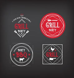 Barbecue party icon BBQ menu design vector image