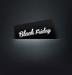 Black Friday label in poket card vector