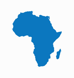 blank blue similar continent africa map isolated o vector image