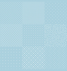 Blue pattern of multiples dots set collection vector
