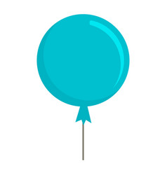 blue sky balloon icon flat style vector image
