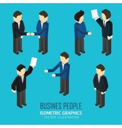 Business people in an isometric view vector image