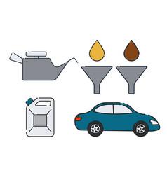 Car oil change design vector