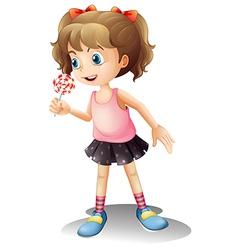 Cartoon Lollipop Girl vector image