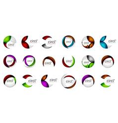 circle icons geometric design minimal round vector image