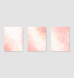 Collection abstract pink liquid watercolor vector