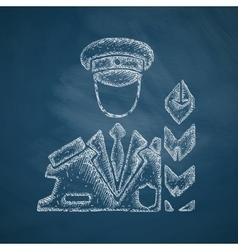 Customs inspector icon vector