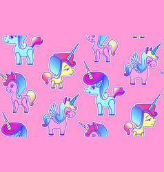Cute unicorn seamless pattern magic dream kids vector