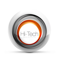 digital techno sphere web banner button or icon vector image