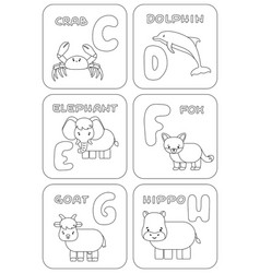 English c-h alphabet family kids game coloring vector