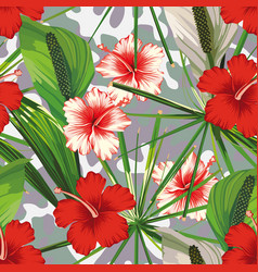 Exotic jungle camo background seamless vector