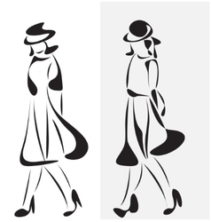 Fashion model vector image
