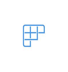 fast sport letter f logo icon design template vector image