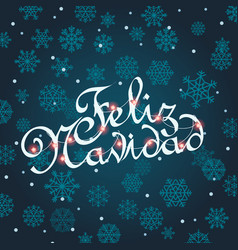 Feliz navidad greeting card template for vector