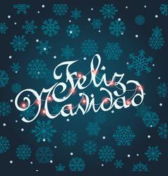 Feliz navidad greeting card template vector