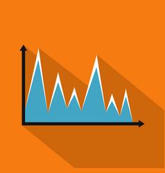 finance graph icon flat vector image